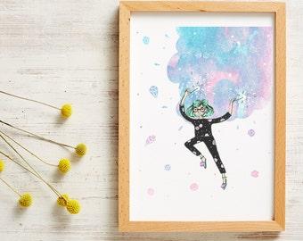 Sparkles A4 Print