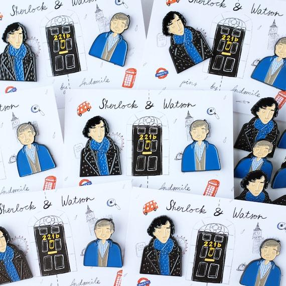Sherlock and Watson Enamel Pin Set | Sherlock Gift Guide