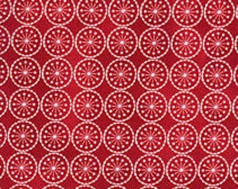Winter Medley fabric - red snowflakes - Maywood Studios - Christmas/Winter/Holiday - OOP HTF