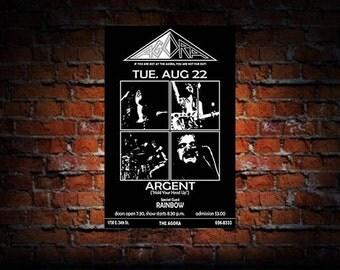 Argent 1972 Cleveland Concert Poster