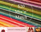 Wool Felt Sheets - Mix and Match sizes and colors - Twenty Dollars worth of Wool Blend Felt