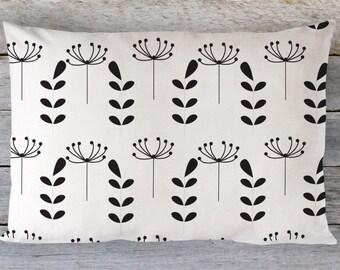 Cotton Pillowcases - Monochrome Pillow cover - Floral Pillowcase - Kids Pillowcase -Toddler Pillow Cover -Travel Pillow Cover -Organc Pillow