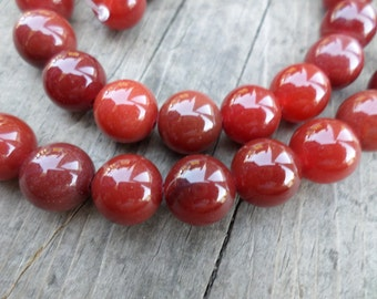 Red Agate 10mm Rounds Full Strand