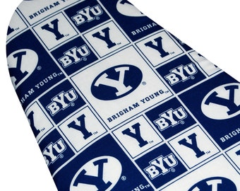 PADDED Ironing Board Cover all sizes of ironing boards including Brabantia Polder Home Essentials BYU cougars Brigham Young logo fabric