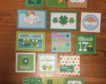 Doodlebug ST. PATRICKS DAY  project life cards - set of 15