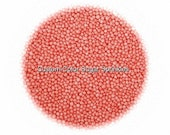 Coral Nonpareils Edible Sprinkles, Custom Colors,Cakepops Cupcake CandyConfetti Decorations 2oz.