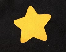 Puffy Gold Felt Star- Die Cut Stars-Decorations-Cut Out Felt Stars-Baby Shower Favors-Party Decorations-DIY Craft Kits-Illustrate Art Faith