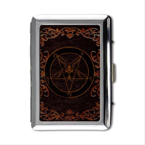 Grimoire Baphomet Pentagram Money/card/cigarette case printed on both sides
