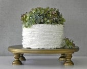 "Gold Cake Stand 18"" Wedding Cupcake Vintage Gold Cake Topper Rustic Wedding Decor E. Isabella Designs Featured In Martha Stewart Wedding"