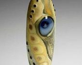 Lampwork Bead Baleen with a Single Blue Eye