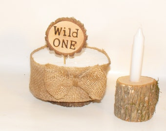 Wild One First Birthday Party package ~ Rustic cake topper ~ Wild one birthday decor ~ First birthday cake Topper ~  Woodland Birthday Party