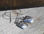 Silver Heart Earrings, Silver Drop Earrings, Hearts, Heart Earrings, Gifts for her. Love