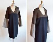 Vintage 1990s MODERNIST wool knit dress