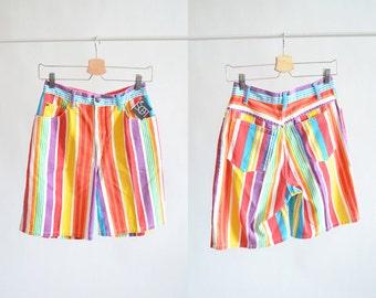 Vintage 1990s RAINBOW denim shorts