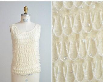 50% OFF SALE / Vintage 1960s beaded sweater tank