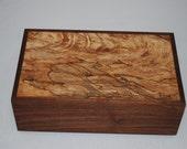 """Fantastically Figured Walnut & Spalted Maple jewelry Box 10"""" x 6"""" x 3 1/2"""