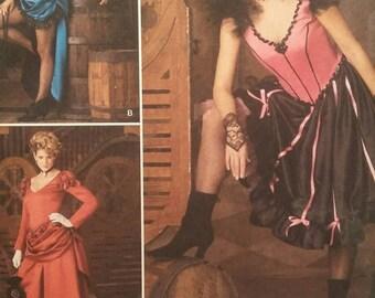 Halloween Costume Pattern, Sexy Saloon Girl, Dance Costume,  Simplicity 2851