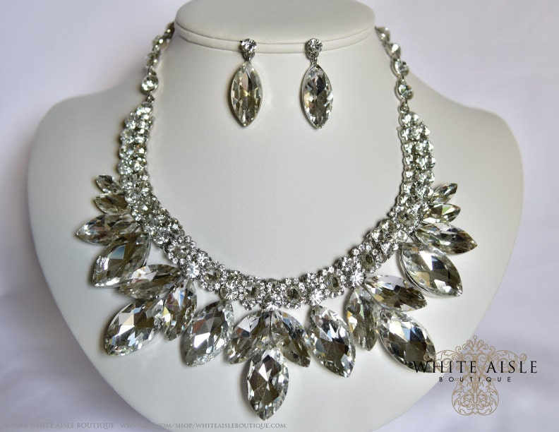 bridal jewelry set vintage inspired bridal necklace