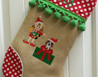 Family Christmas Stockings, Personalized Christmas Stocking, Pet Stockings,  Custom Made For You, You Design It!