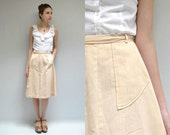 70s Gauze Skirt  //  Wrap Midi Skirt  //  THE STUCCO