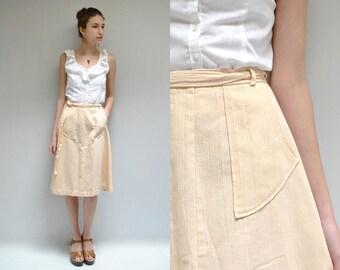70s Gauze Skirt  //  Wrap Midi Skirt  //  THE STUCCO