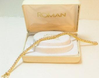 Vintage Roman Jewelry CZ Tennis Bracelet, Jewelry