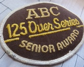 Vintage 1970s Bowling Patch - ABC Senior Award - 125 Pins Over Average Series