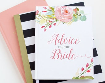 Advice for the Bride Journal, Guest Book, Bridal Shower | Judy Collection