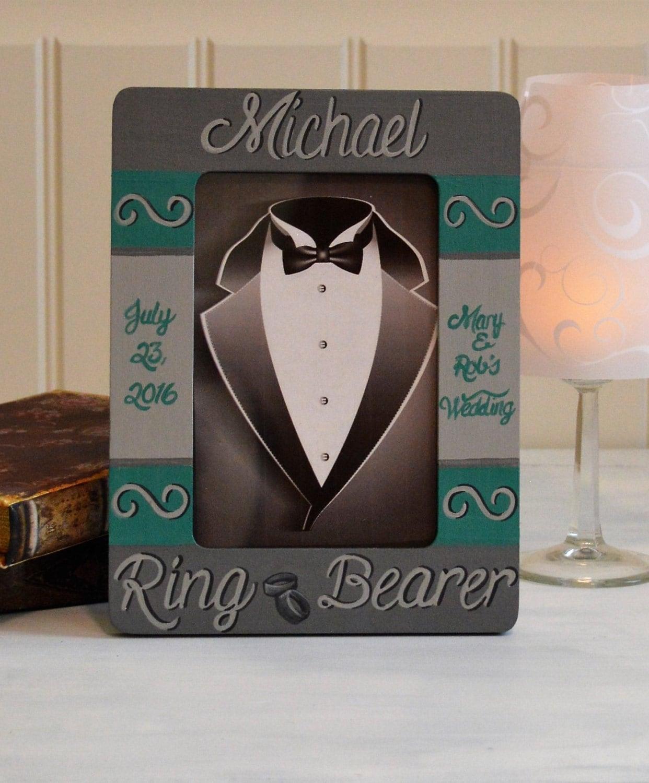 Ring Bearer Gift Frame Hand Painted Junior Groomsman ...