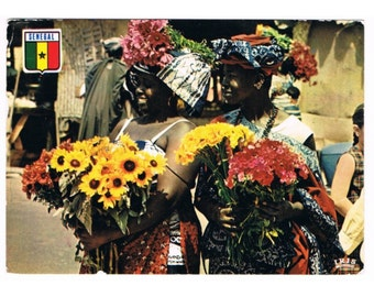 7 Vintage Costume Postcards - West Africa - Traditional Costumes
