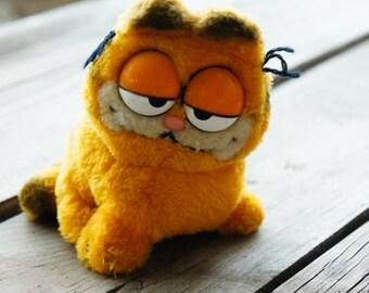 Vintage 70s-80s Garfield Cat Plush Stuffed Animal Toy Retro Fantasy