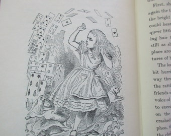 vintage Alice's Adventures in WONDERLAND -Lewis Carroll, John Tenniel,  Random House