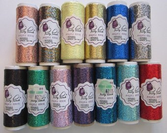13 Pretty Punch Angel Hair metallic thread - assorted colors - 225 yards per spool