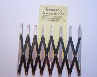 expanding sewing gauge - buttonhole placement, pleats, tucks, shirring, smocking, and more