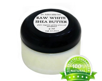 4 OZ UNREFINED WHITE Shea Butter From Ghana 100% Pure Natural Organic