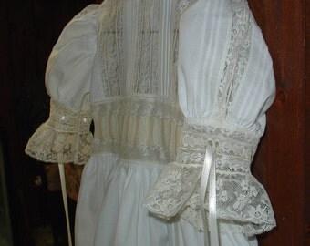heirloom dress size 6 white/ecru Communion Pageant Confirmation Wedding Flower Girl Graduation