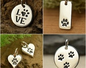 Pet Charms - Choose Your Favorite Style. Sterling Silver