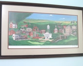 Original Water Color Painting Small Town Scape