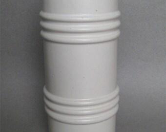 "McCoy Floraline Vintage Pottery White Matte Finish 10"" Tall"