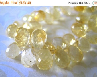 20% OFF ON SALE Citrine Microfaceted Pear Briolette 11mmx6mm, 3 pcs, Gemstone Beads