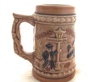 New Orleans Souvenir Stein, Small Vintage Souvenir Mug