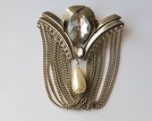 Art Deco Brooch Stunning Large Rhinestone Brooch