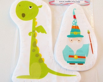 Kids Craft Kits- Learn To Sew Kit - Gift Idea - My First Sewing Kit - Wizard And Dragon - Kids Sewing Kit DIY- Christmas - Hanukkah