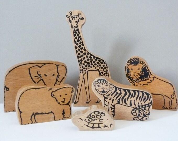 Wooden Wild animals  1960's