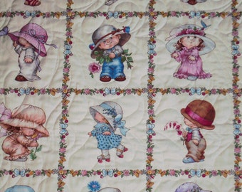 """Elizabeth Studios """"Sun Bonnet Sue"""" Handmade Patchwork Quilt-Made in USA by MJ Quilts-Free Shipping in USA"""