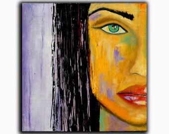 Acrylic Painting Portrait Painting ..SALE