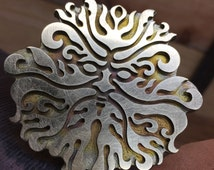 Green Man leather embossing finishing die