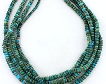 OCEAN BLUE PERUVIAN Opal Beads Rondelles 5-6.7mm NewWorldGems
