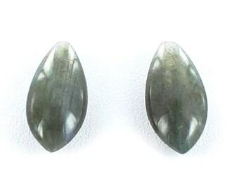 Labradorite Teardrop Beads Earring Set 20x10mm