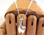 Llama Sterling Silver Alpaca Animal Hipster Pendant Necklace on sterling chain